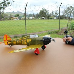 Download free 3D print files Full RC Hawker Hurricane - 3D printed project, taciucmarius