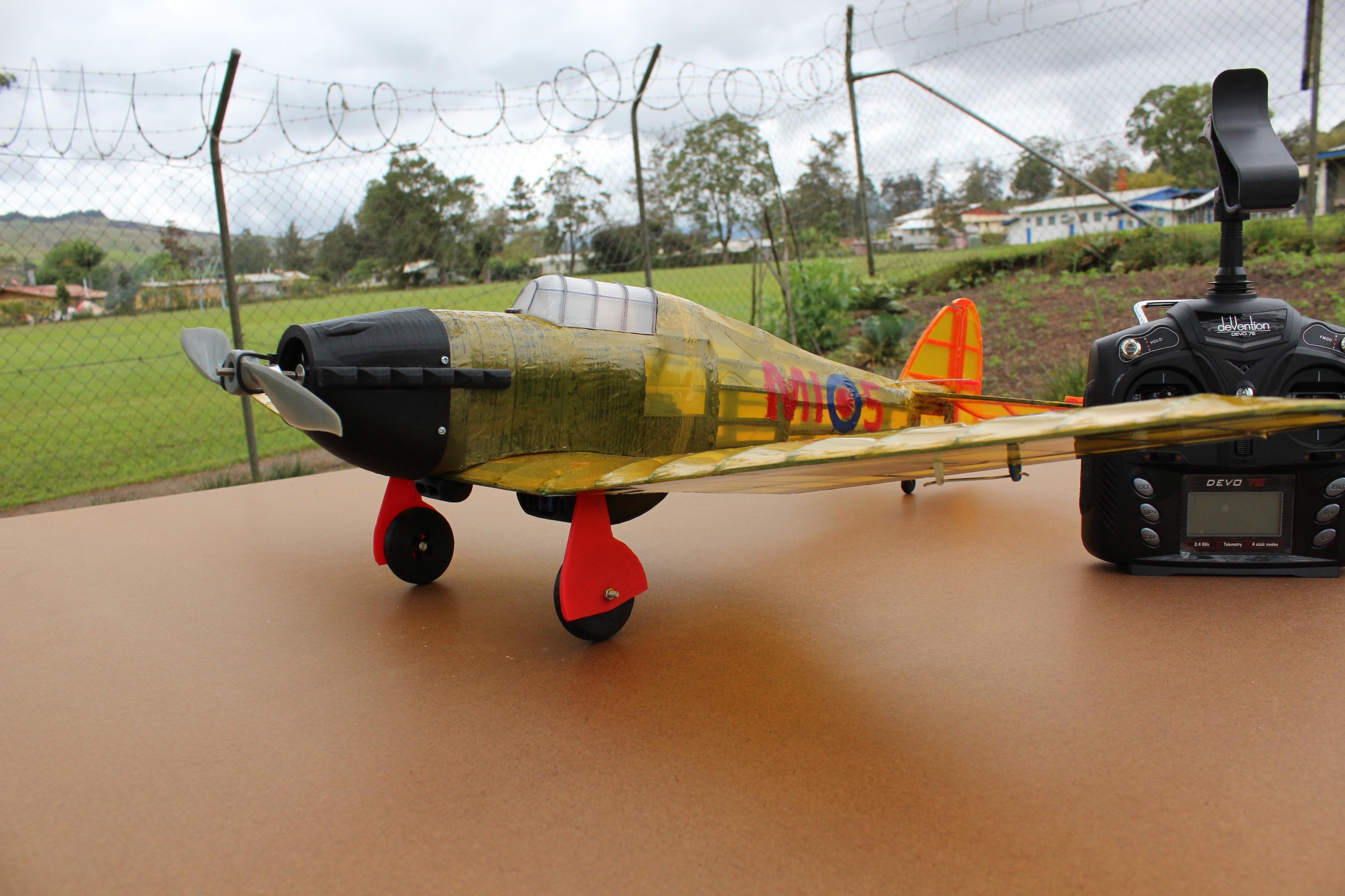 IMG_3651.JPG Télécharger fichier STL gratuit Full RC Hawker Hurricane - projet imprimé 3D • Objet pour imprimante 3D, taciucmarius