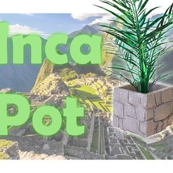 Download 3D printer model Inca stone Flower pot, Gjaq