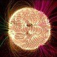 2719965.jpg Télécharger fichier STL gratuit Soleil (avec tempêtes de plasma) • Objet imprimable en 3D, szadros