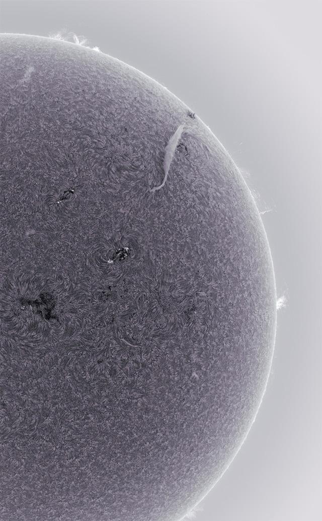 sun-8.jpg Télécharger fichier STL gratuit Soleil (avec tempêtes de plasma) • Objet imprimable en 3D, szadros