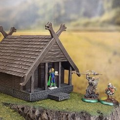 Download free 3D printing files Fantasy viking house, Terrain4Print