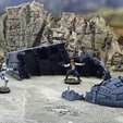 Download free 3D printer files Starship wreck, Terrain4Print