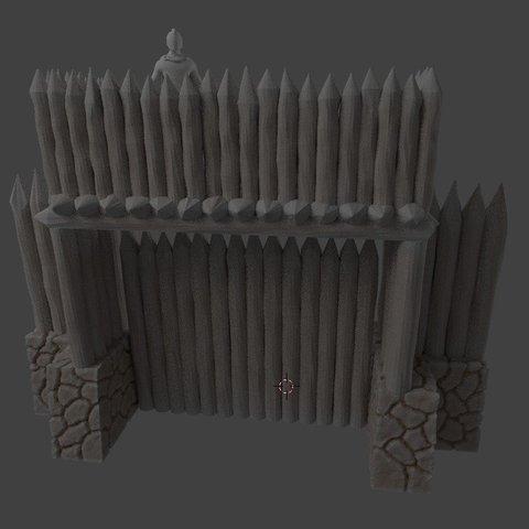 3fe93007cbd115ded5663828742496b5_display_large.jpg Download free STL file Fantasy viking palisade gate (28mm) • Object to 3D print, Terrain4Print