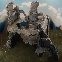 Download free 3D printer files Ulvheim B2 - modular fantasy ruins, Terrain4Print