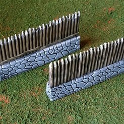 Download free STL file Fantasy viking palisade, Terrain4Print