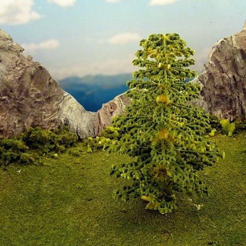 Download free 3D printer files Vegetation C - Spruce, Terrain4Print