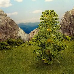 Download free 3D printer files Vegetation C - Spruce, Terrain4Print