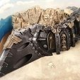 Download free 3D printing models Gothic spaceship wreck C nose, Terrain4Print