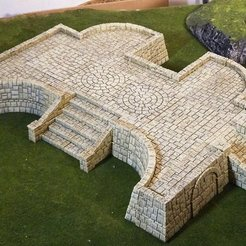 Descargar STL gratis Terrenos del templo de Tikal C, Terrain4Print