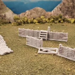 Free 3D printer files Whattle fence 2, Terrain4Print