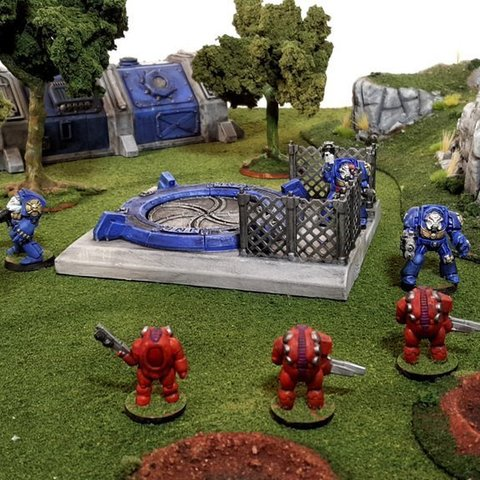 Download free 3D printing models Launch hatch terrain piece 28mm, Terrain4Print