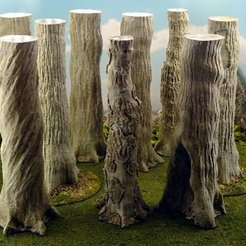 Download free STL Vegetation B - Giant tree trunks, Terrain4Print