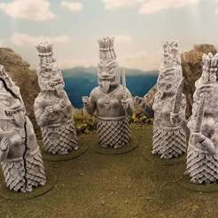 Télécharger STL gratuit Statue de la jungle - déesse de la guerre, Terrain4Print