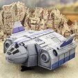 Descargar modelos 3D gratis Transporte de tropas TA12 - intacto y naufragado, Terrain4Print