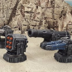Download free 3D printing models Big guns A, Terrain4Print