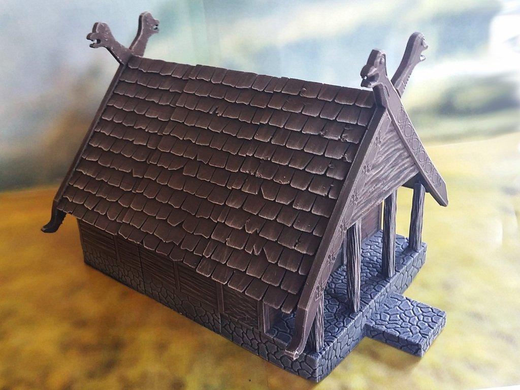 02db36638391f547393a6d55b20e1c89_display_large.jpg Télécharger fichier STL gratuit Maison viking fantaisiste • Plan imprimable en 3D, Terrain4Print