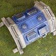 Download free 3D printer templates Sci-fi barracks bunker 28mm, Terrain4Print