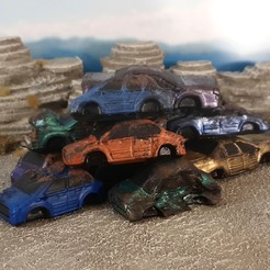 Download free STL file Junk cars • 3D print design, Terrain4Print