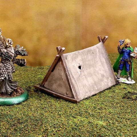Download free 3D printer templates Fantasy viking tent 28mm, Terrain4Print