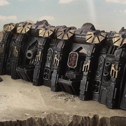 Descargar modelos 3D gratis Naufragio de una nave espacial gótica A, Terrain4Print
