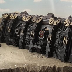Download free STL file Gothic spaceship wreck A • 3D printing design, Terrain4Print