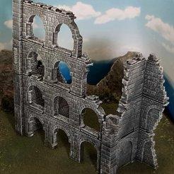 ced77617d724da10e00afbfd91e3a640_display_large.jpg Télécharger fichier STL gratuit Ulvheim B1 - ruines fantaisistes modulaires • Modèle à imprimer en 3D, Terrain4Print