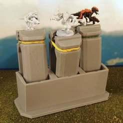 Impresiones 3D gratis Porta miniaturas y soporte para pintura por lotes, Terrain4Print