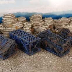 Descargar diseños 3D gratis Contenedor de embarque futurista, también destrozado, Terrain4Print