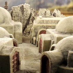 Download free 3D printing designs Desert sci-fi buildings, Terrain4Print