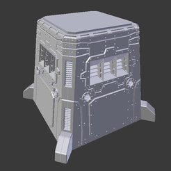 Download free STL files Sci-fi fortress, Terrain4Print