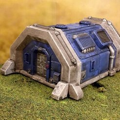 Download free 3D printer templates Sci-fi barracks bunker 28mm, Terrain4Print