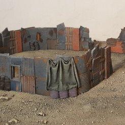 Descargar modelo 3D gratis Barricadas de chabolas, Terrain4Print