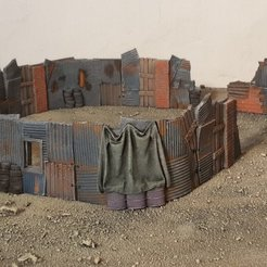 Download free 3D printer designs Shanty barricades, Terrain4Print