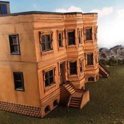 Télécharger plan imprimante 3D gatuit Bâtiments en grès brun de New York, Terrain4Print
