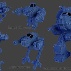collage.png Télécharger fichier STL gratuit 5 Mechs • Design pour imprimante 3D, Terrain4Print
