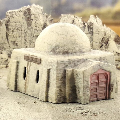 32d626f66dfb4d3d1628f4e136cef0f7_display_large.jpg Download free STL file Desert sci-fi buildings • 3D printer template, Terrain4Print