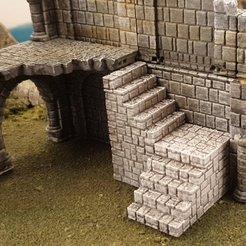 Download free 3D printer templates Ulvheim B3 - Stairs for the ruins, Terrain4Print