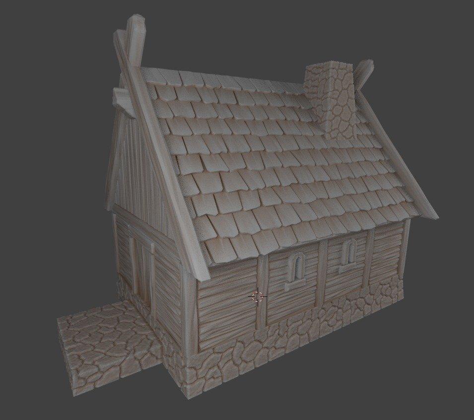 ee884b989eca8d0e20114aca21c81654_display_large.jpg Télécharger fichier STL gratuit Petite maison viking de fantaisie • Design à imprimer en 3D, Terrain4Print