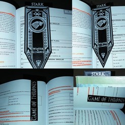 3D print model Stark House Banner, Game Of Thrones, De_Ideas_3D