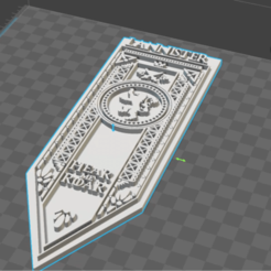 STL files Banner house Lannister, Game Of Thrones, De_Ideas_3D