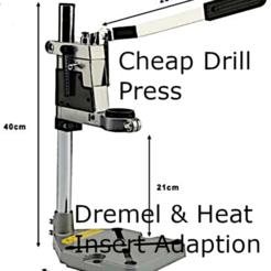 Drill Press.png Download STL file DRILL PRESS DREMEL ADAPTER • 3D printing model, tinker3dmodel