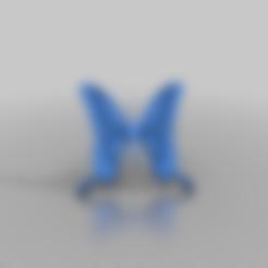 carolyn_blue_butterfly.stl Download free STL file Carolyn Blue Butterfly • 3D print design, peterpeter