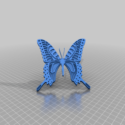 Download free STL file Carolyn Blue Butterfly • 3D print design, peterpeter