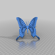 carolyn_blue_butterfly.png Download free STL file Carolyn Blue Butterfly • 3D print design, peterpeter