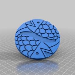 Imprimir en 3D gratis Signo del Zodíaco Piscis, peterpeter