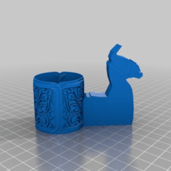 Download free 3D printing templates Fortnite Style Llama with Aztec Bowl, peterpeter