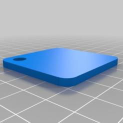 Imprimir en 3D gratis Llavero cuadrado, peterpeter