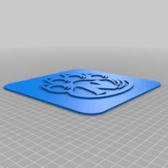 Descargar archivo 3D gratis La pata de gato de NWMSU en una placa cuadrada delgada, peterpeter
