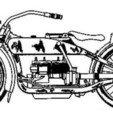 Télécharger STL gratuit Harley 1919 sur ovale avec logo au dos v2, peterpeter